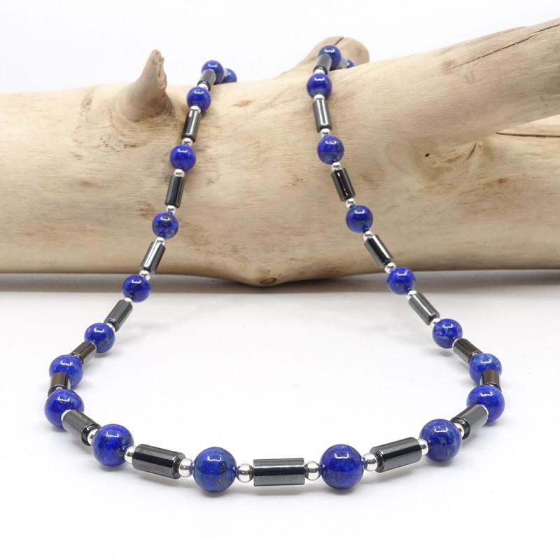 Lapis lazuli et hématite