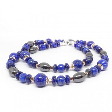 Hématite et lapis lazuli