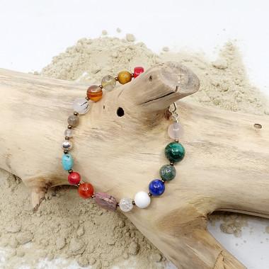 Agate du tibet, onyx et agate blanche pierres mates