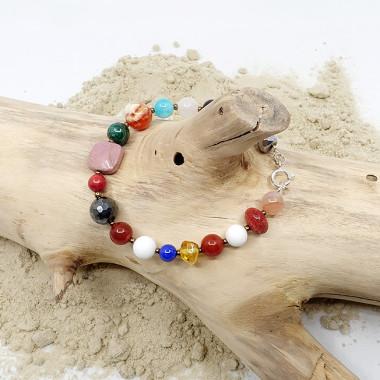Bracelet multi pierres et argent 925