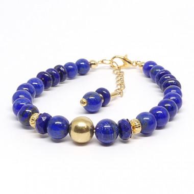 Lapis lazuli et gold filled...