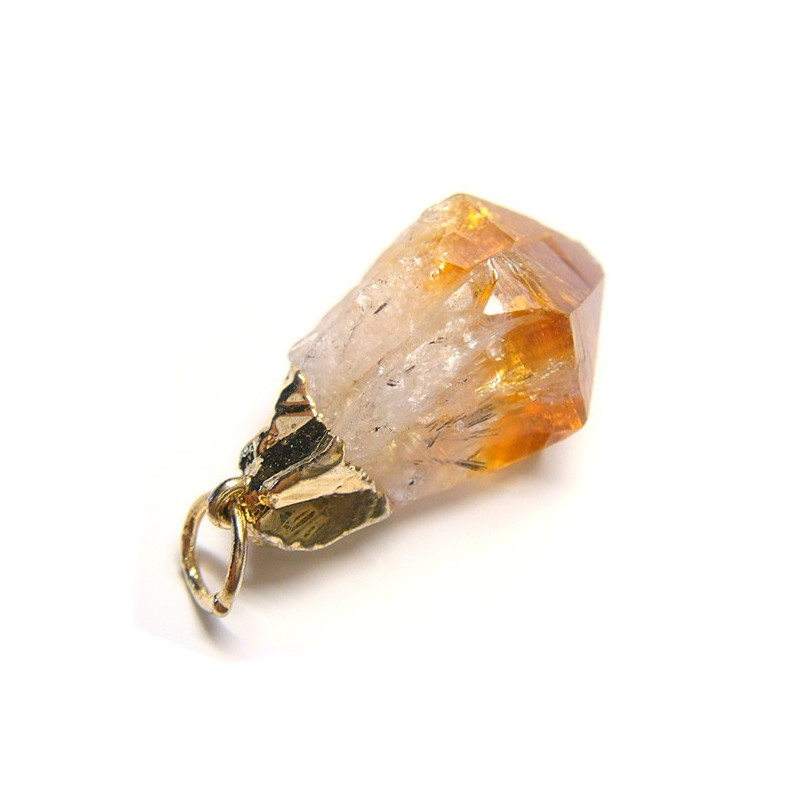 MADE IN BRAZIL - Pendentif pointe naturelle de citrine