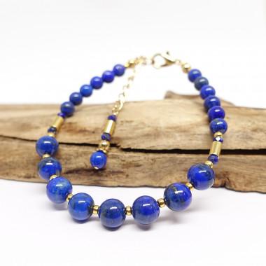 Aigue-marine, lapis lazuli et rhodonite