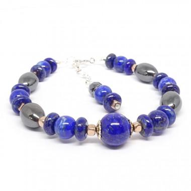 Changement de vie - Aigue-marine, lapis lazuli et calcedoine