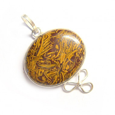 Pendentif en jaspe chrysanthème