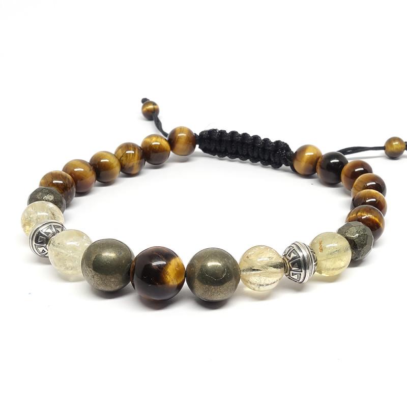Hématite et cornaline, Bracelet création