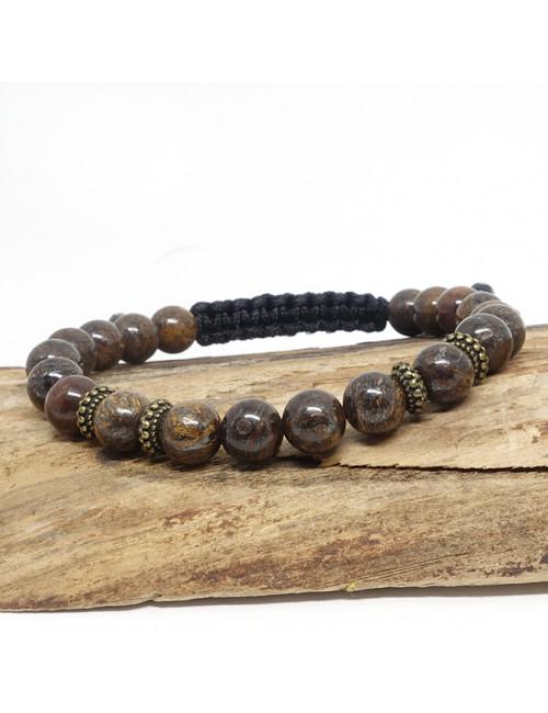 Perles de cornaline, Bracelet sur cordon