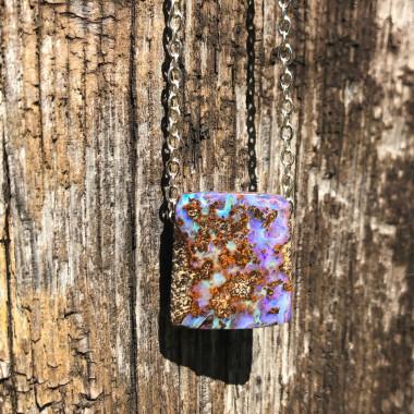 Opale Boulder sur chaîne argent