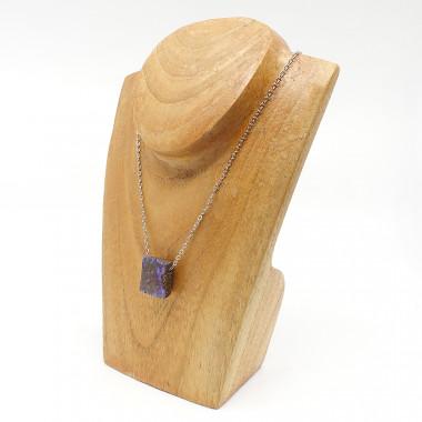 Bracelet en onyx mate et pierres des 7 chakras