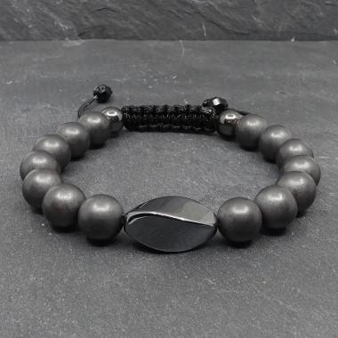 Aide à la décision - Oeil de tigre et pierre de lune, Bracelet création