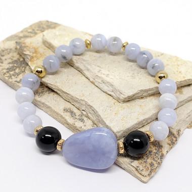 Rhodonite et quartz