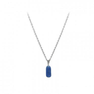 Pendentif lapis lazuli sur chaîne
