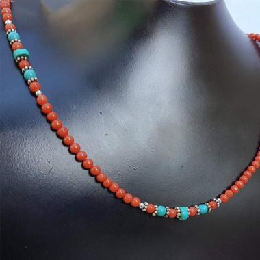 Turquoise et corail