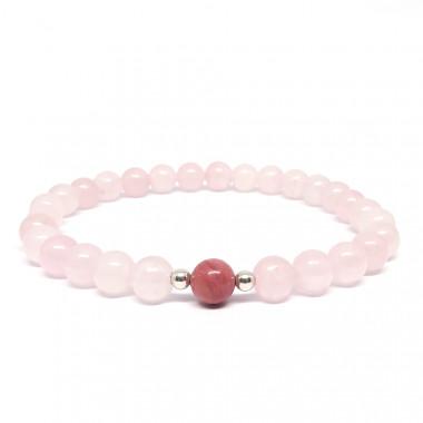 Les pierres de rhodonite et de quartz rose améliorent les liens affectifs. Aident à nettoyer les blessures émotionnelles.