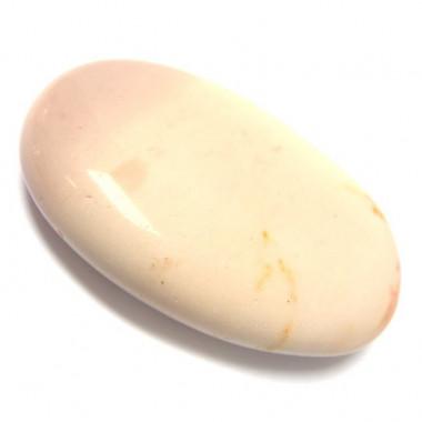 Galet mokaïte crème