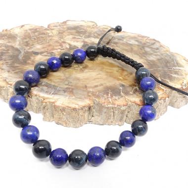Passion et sensualité - zoisite, grenat et cristal de roche, Bracelet sur plaqué or