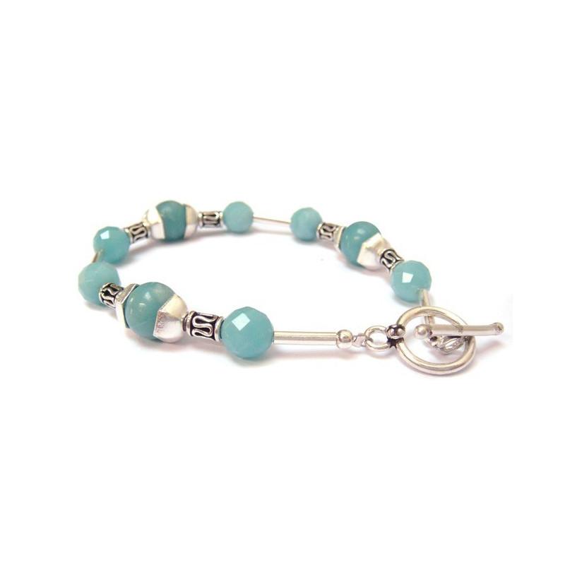 Bracelet en pierre Amazonite anti-stress