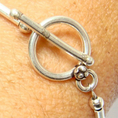 Bracelet amazonite et argent 925
