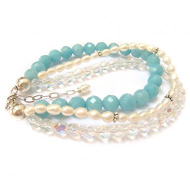 Bracelet amazonite, perles...