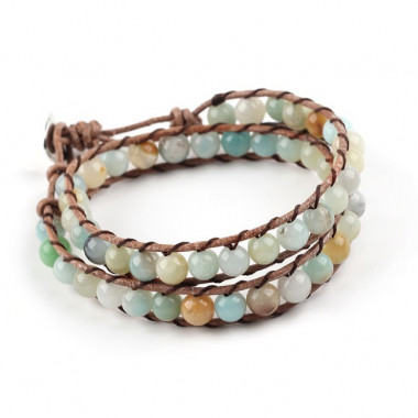 "Bracelet ""wrap"" amazonite"