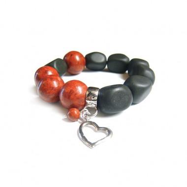 Bracelet gorgone et onyx