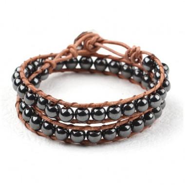 "Bracelet ""wrap"" hématite"