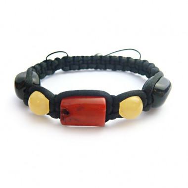 Bracelet shamballa corail,...