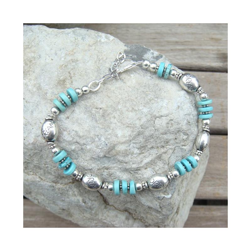 Bracelet turquoise et ag925