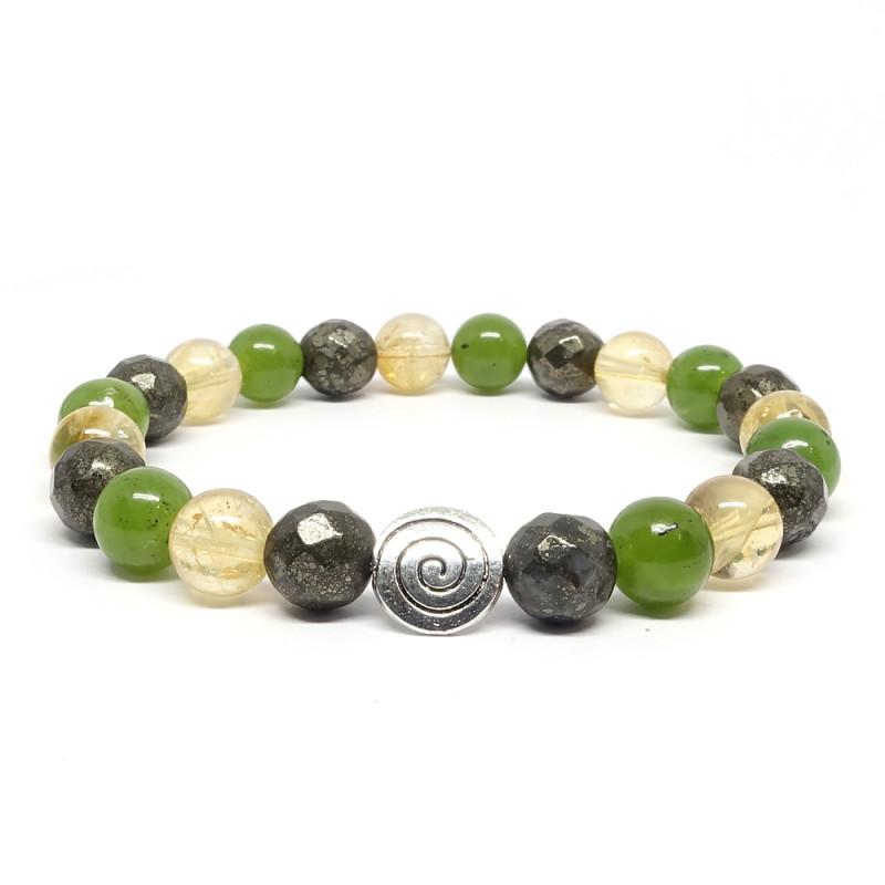 Bracelet Jade Pyrite et Citrine