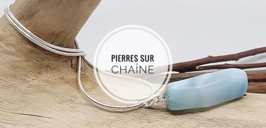Pierre sur chaîne